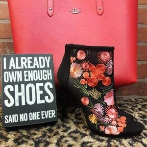 Jessica Simpson Embroidered Floral High Heel Boots